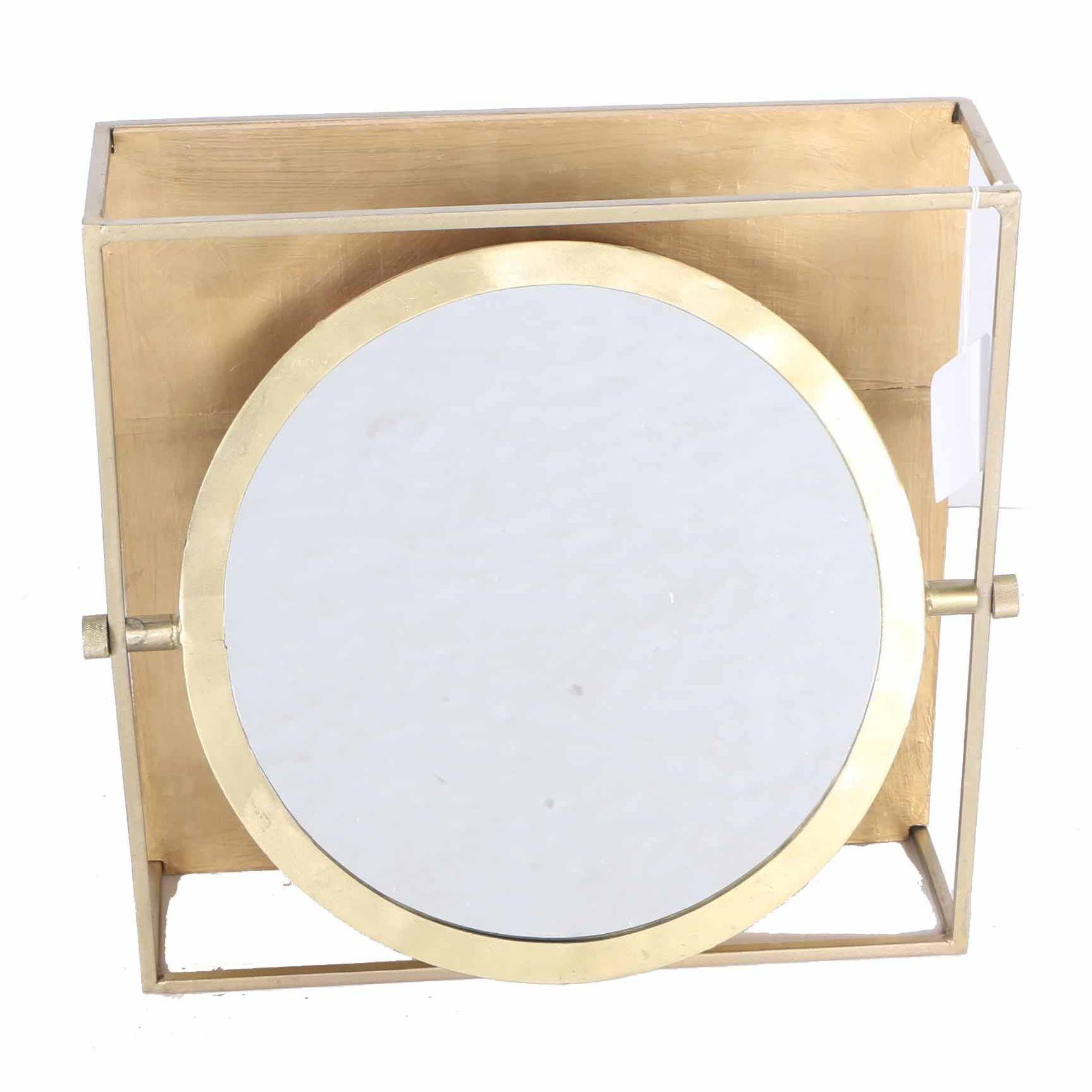 Brass Frame Pivot Mirror