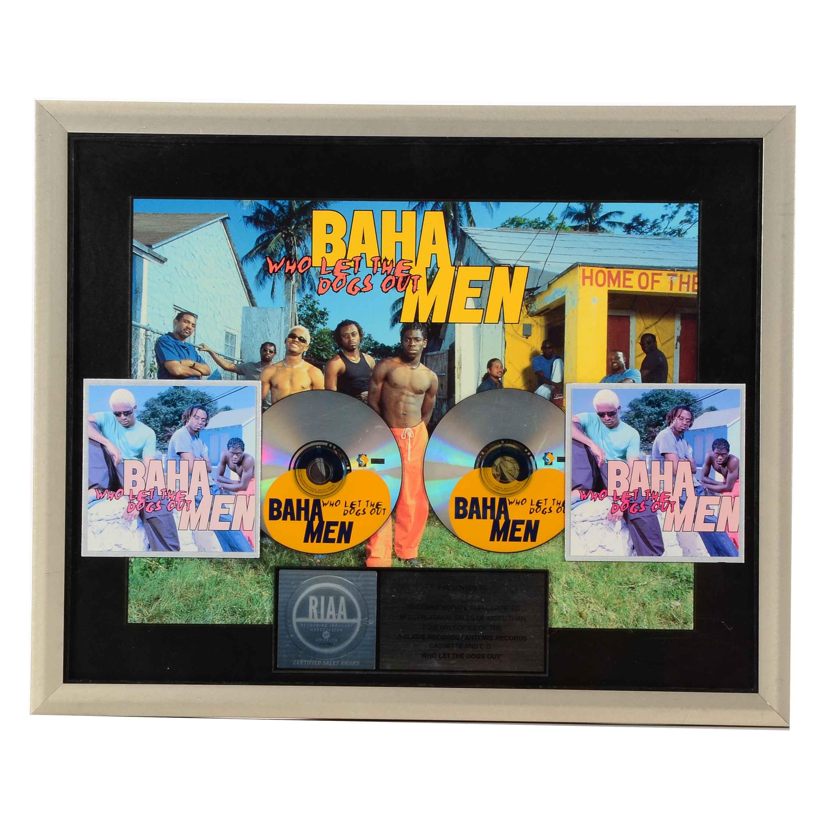 Baha Men Q102 Award Display
