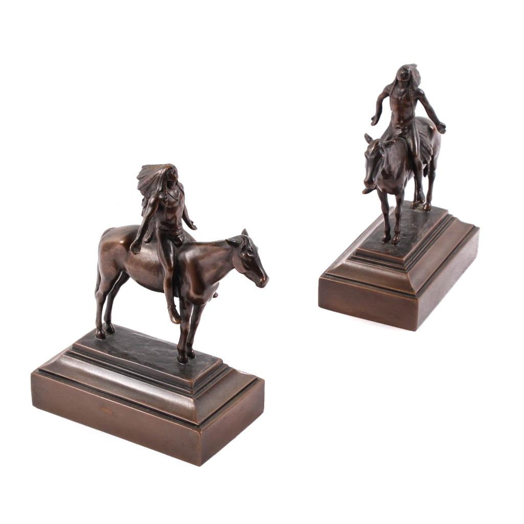 Pair of Bronze Sculptures