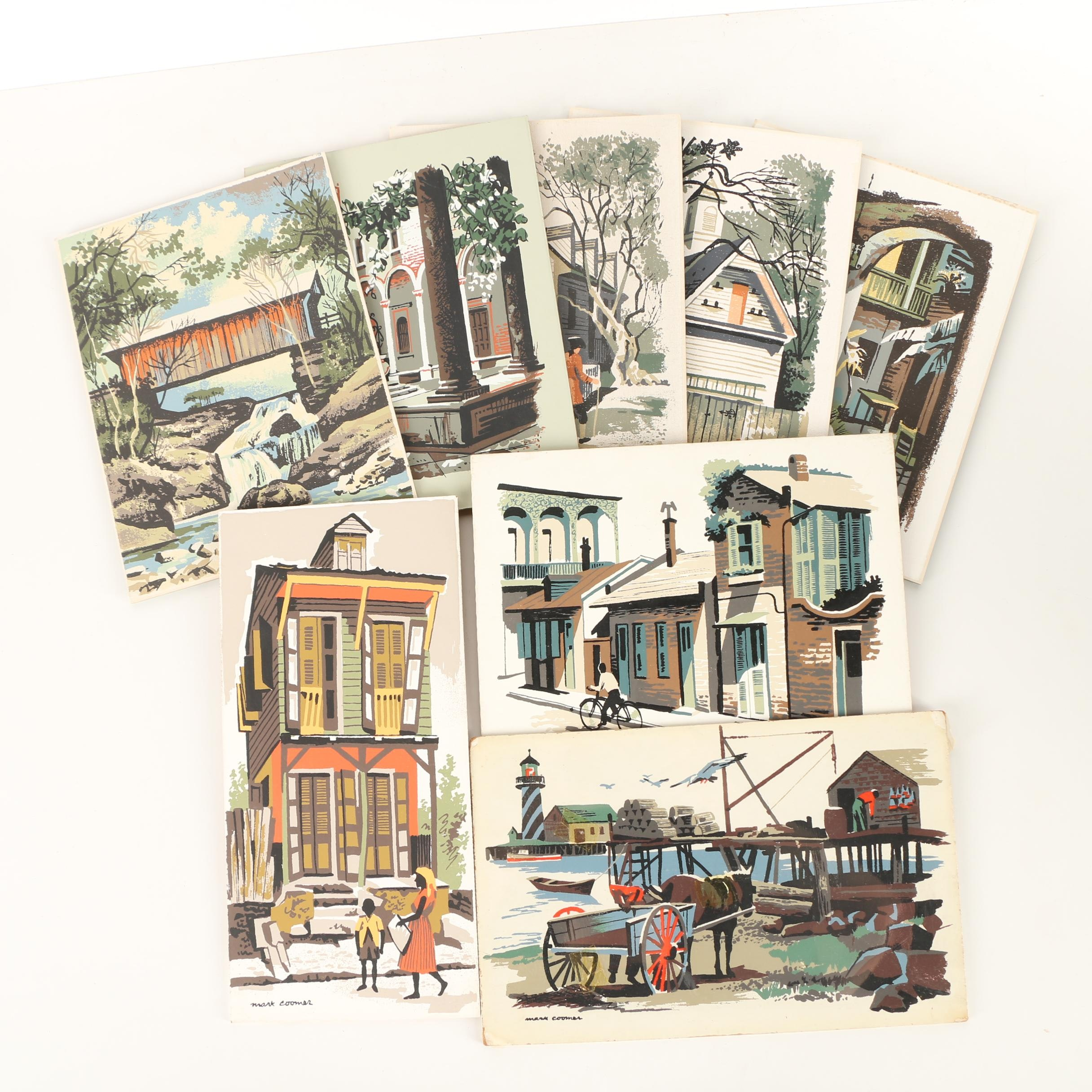 Mark Coomer Serigraphs of Town Scenes