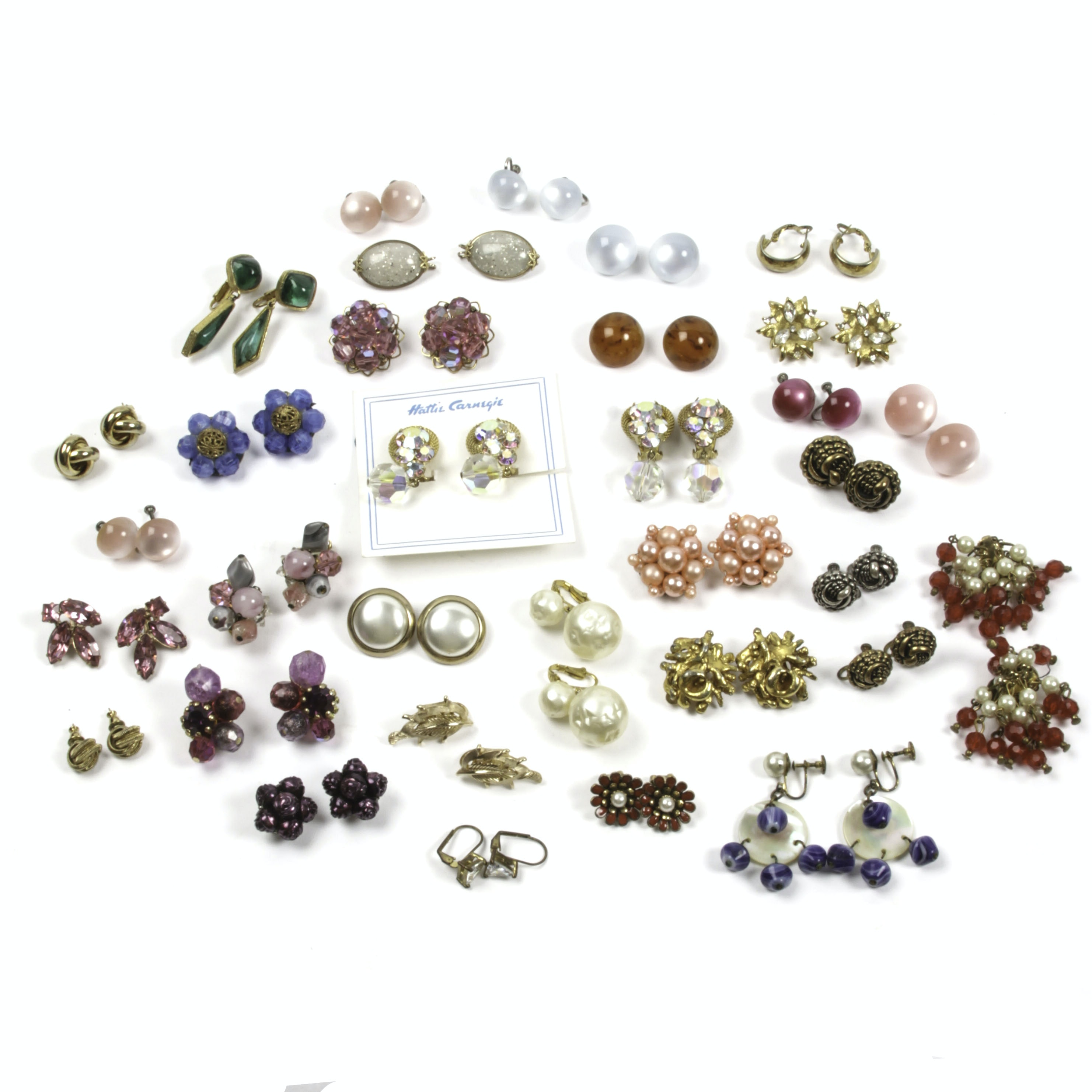Generous Collection of Vintage Costume Earrings