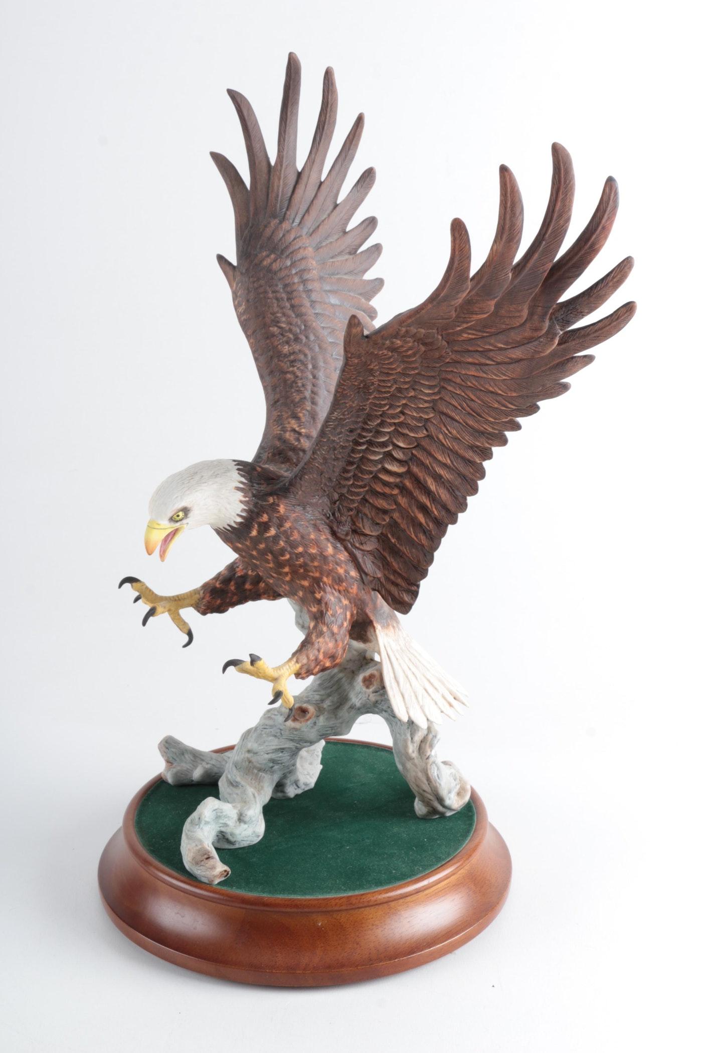 "Eagle Auto Sales >> The Franklin Mint's Eagle Figurine ""American Majesty"" | EBTH"
