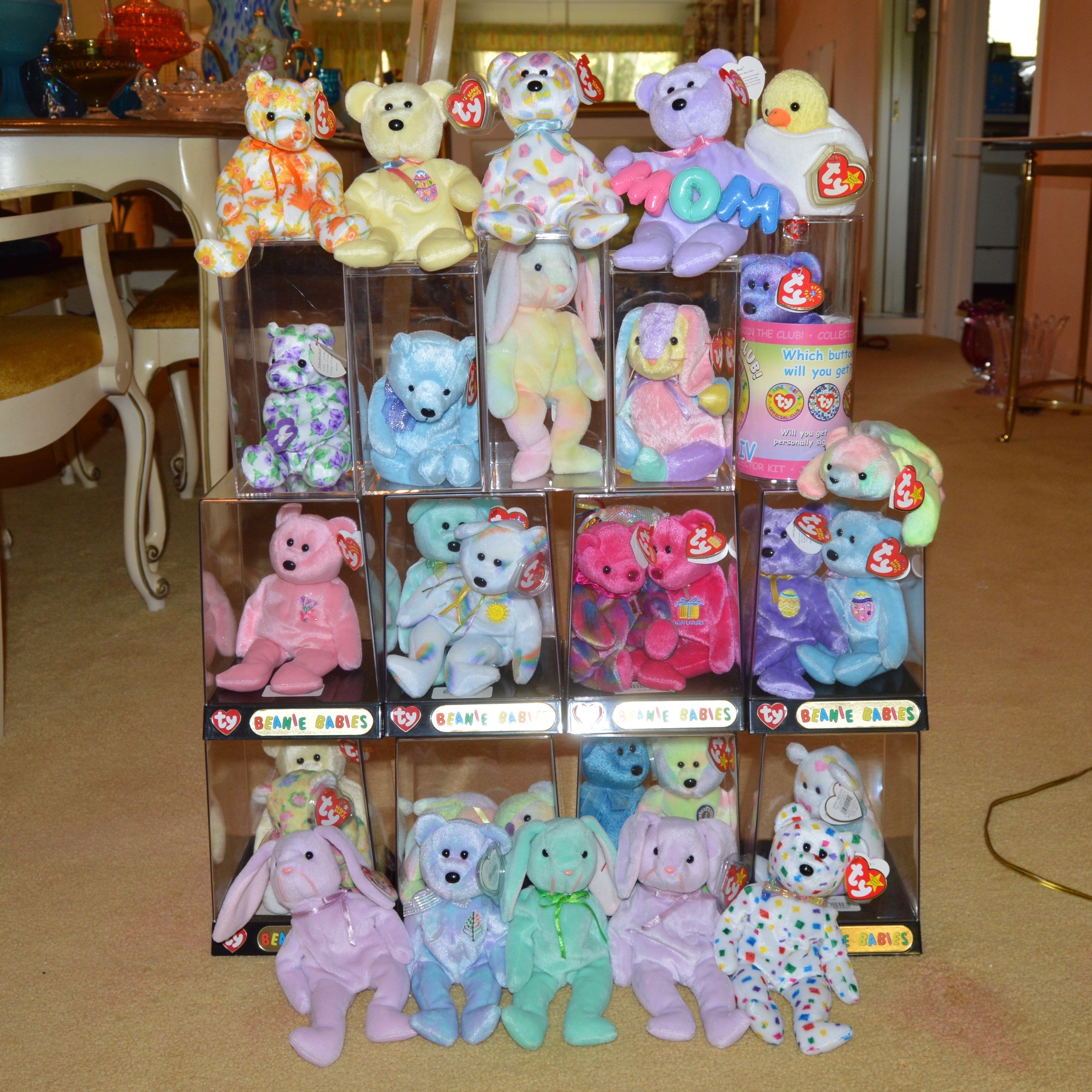Colorful Beanie Baby Collection