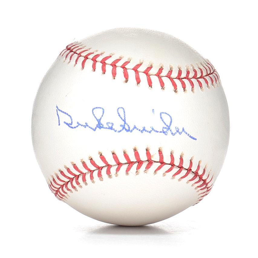 Duke Snider Signed Baseball  COA