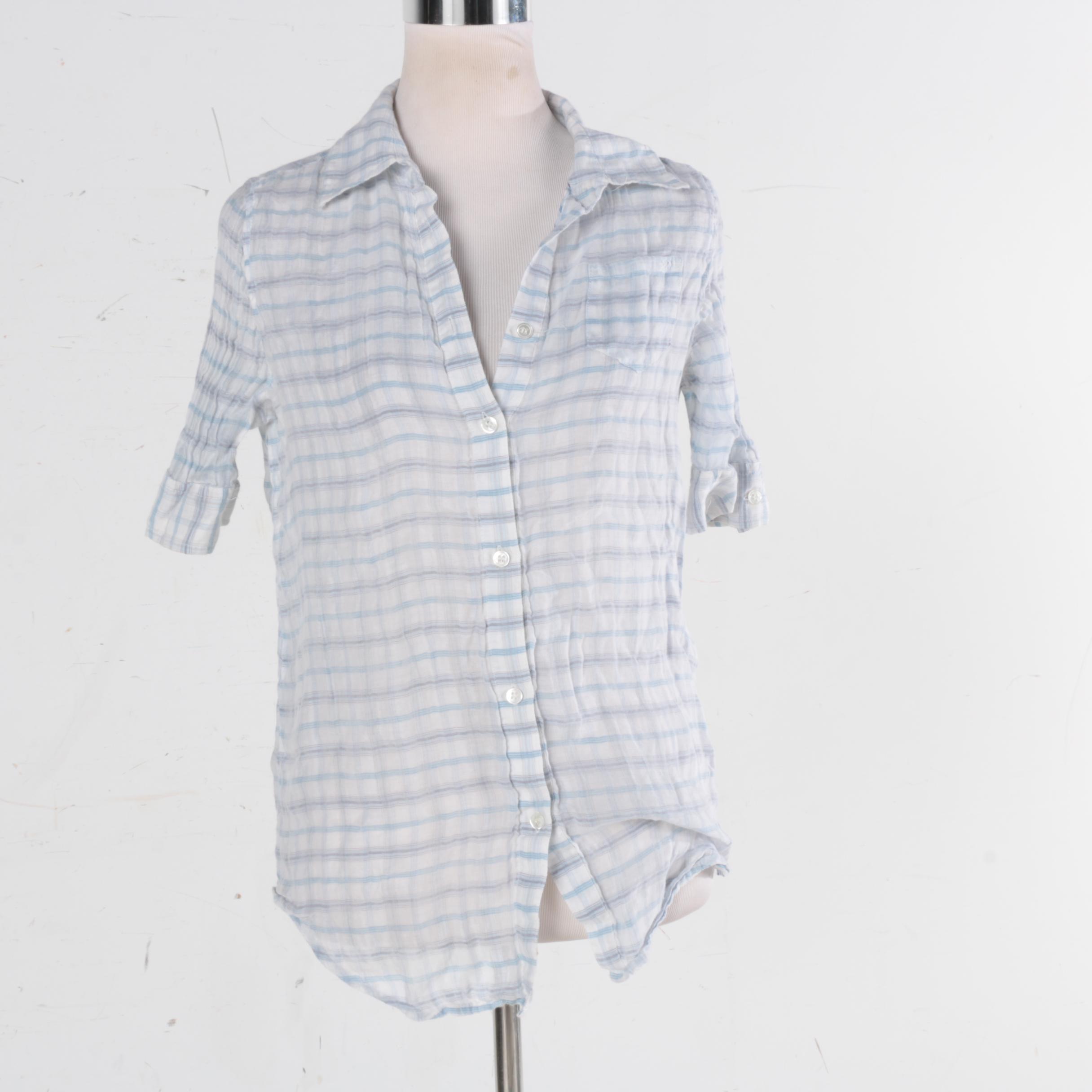 Women's Elizabeth and James Plaid Shirt