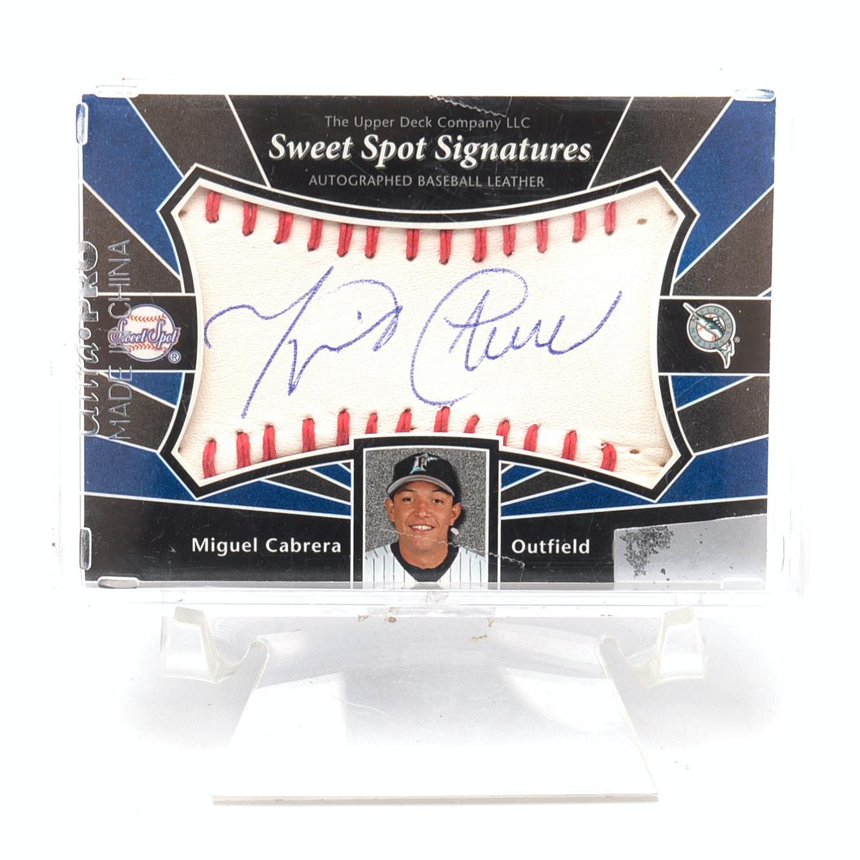 2004 Miguel Cabrera Upper Deck Certified Autograph Card