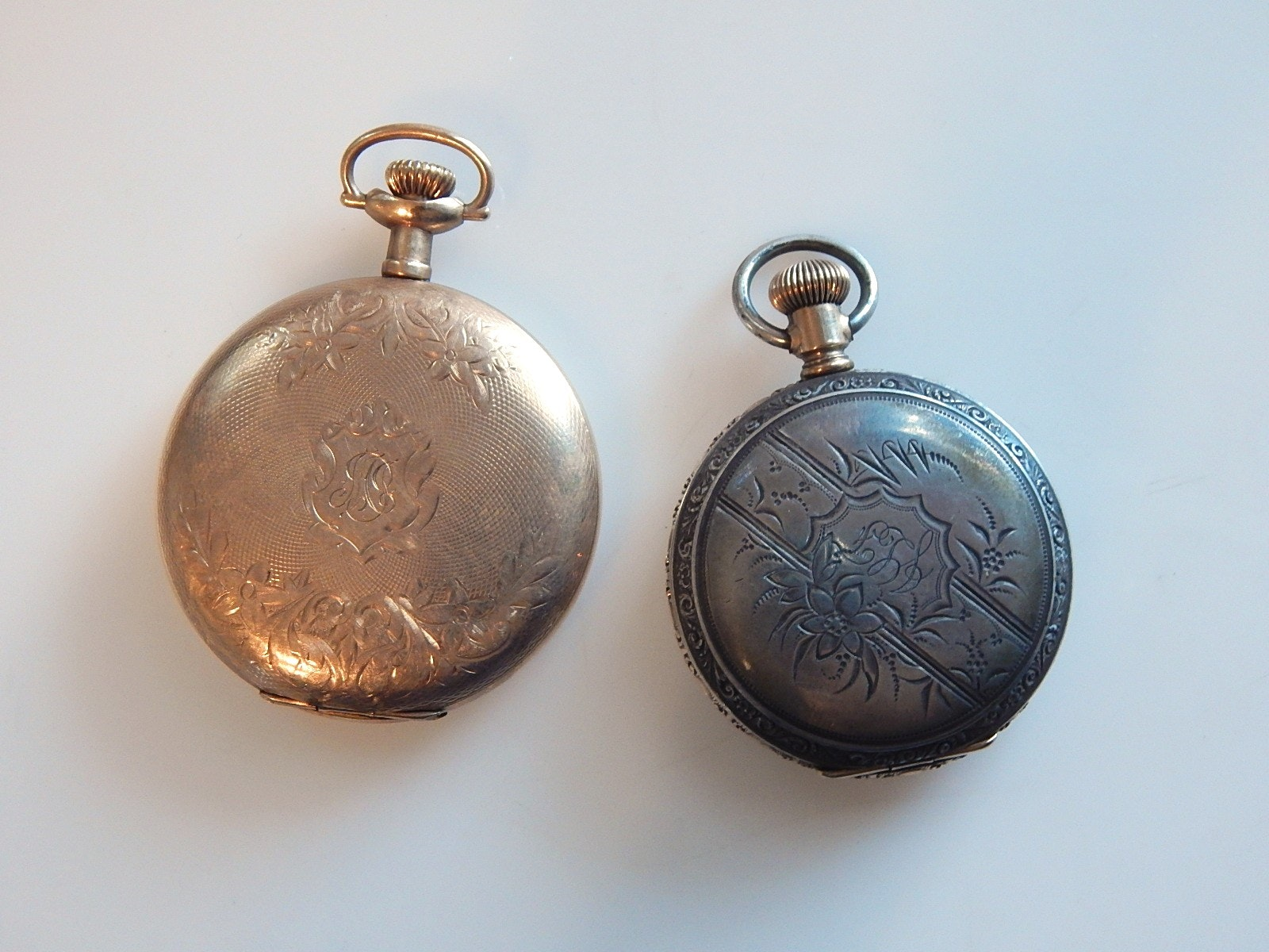 Two Vintage Elgin Pocketwatches