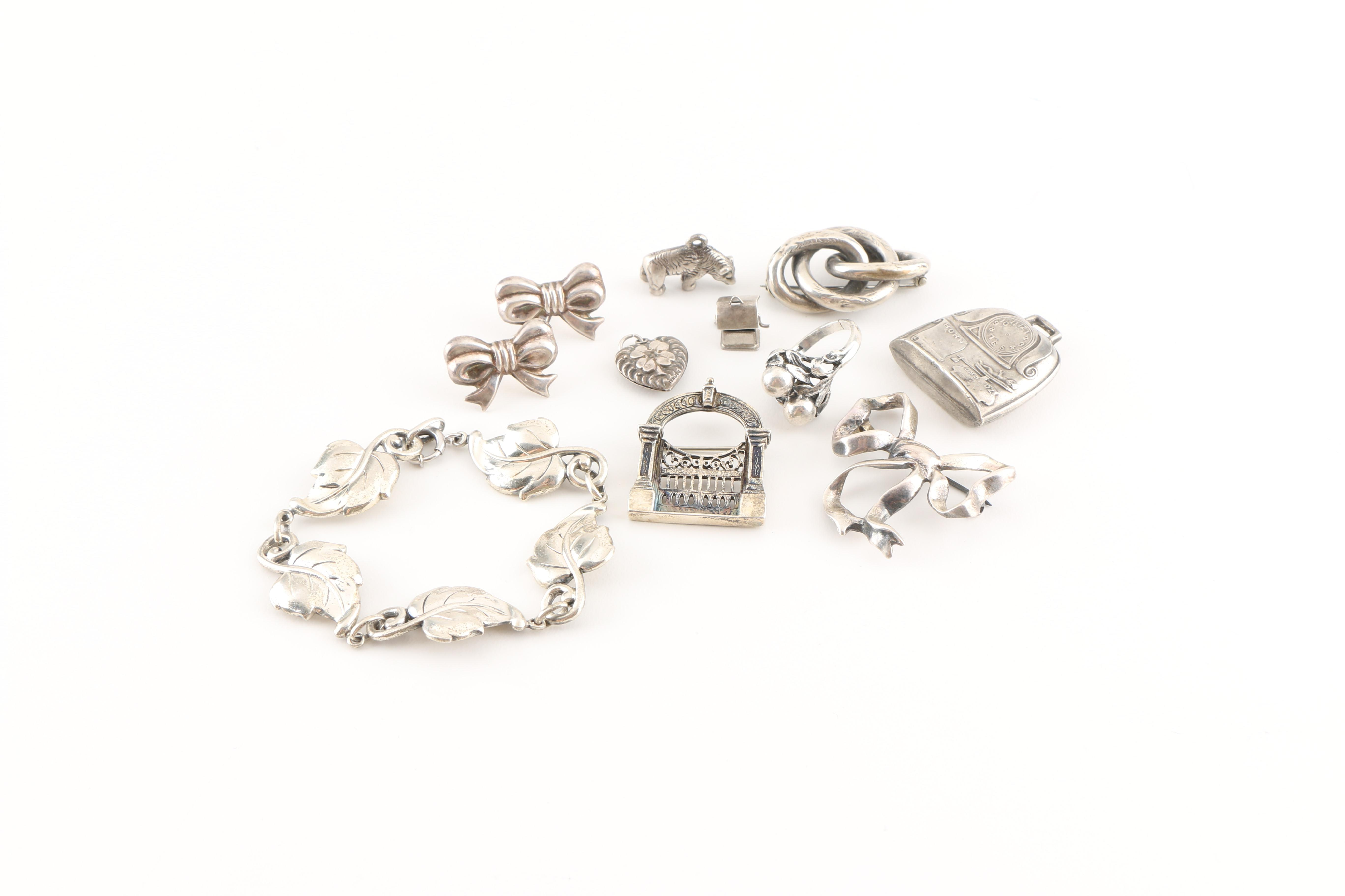 Assortment of Vintage Sterling Silver Jewelry Including Danecraft