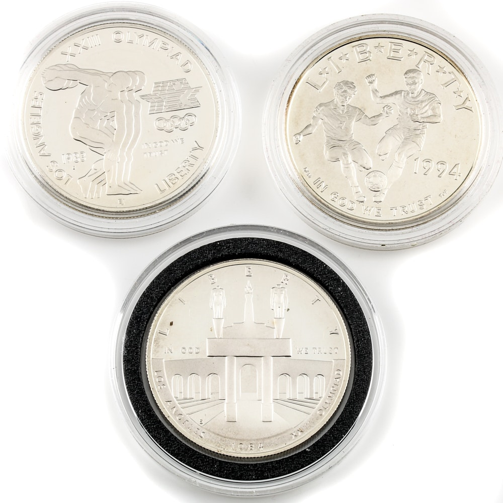 Collection of Commemorative Silver Dollars