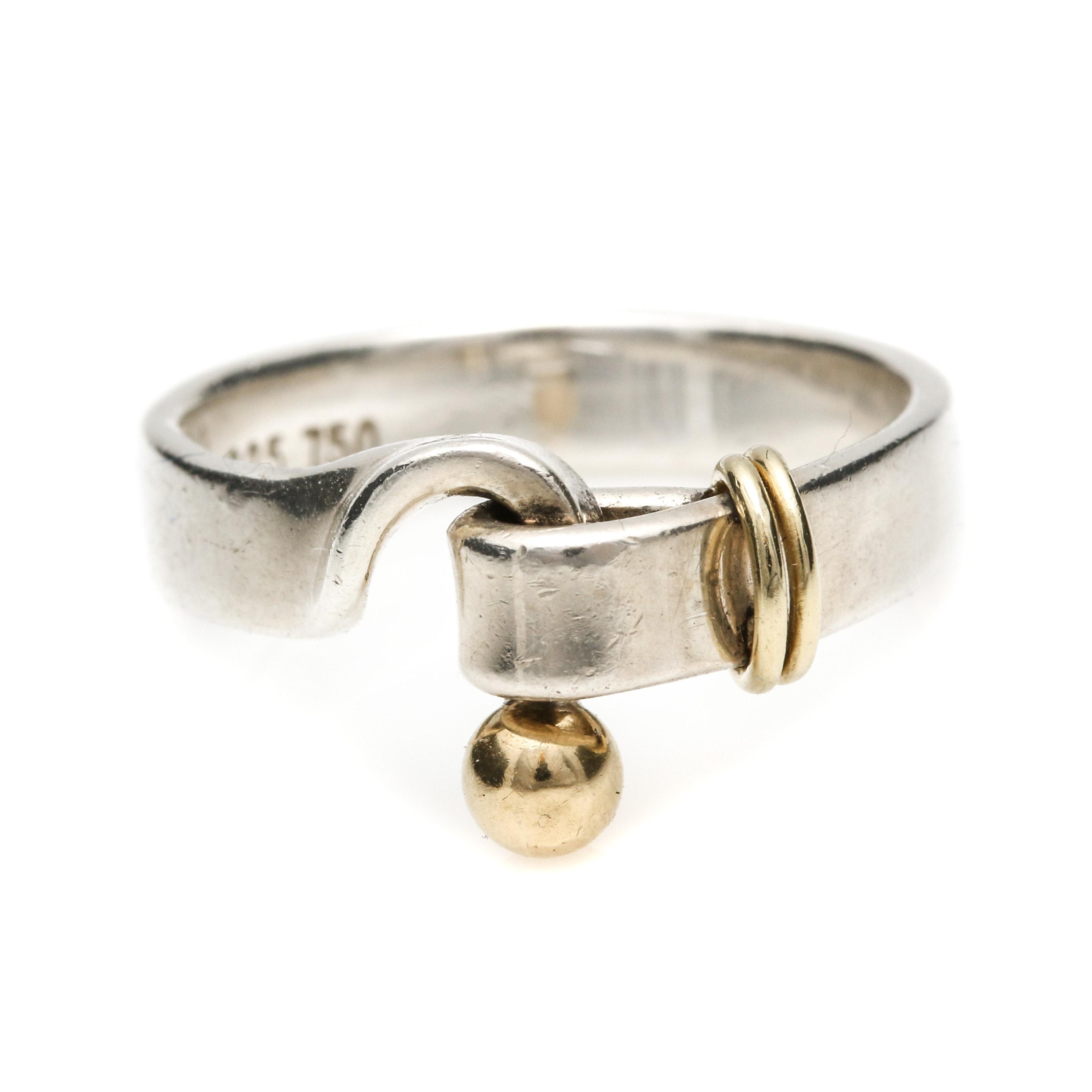 "Tiffany & Co. Sterling Silver ""Hook & Eye"" Ring"