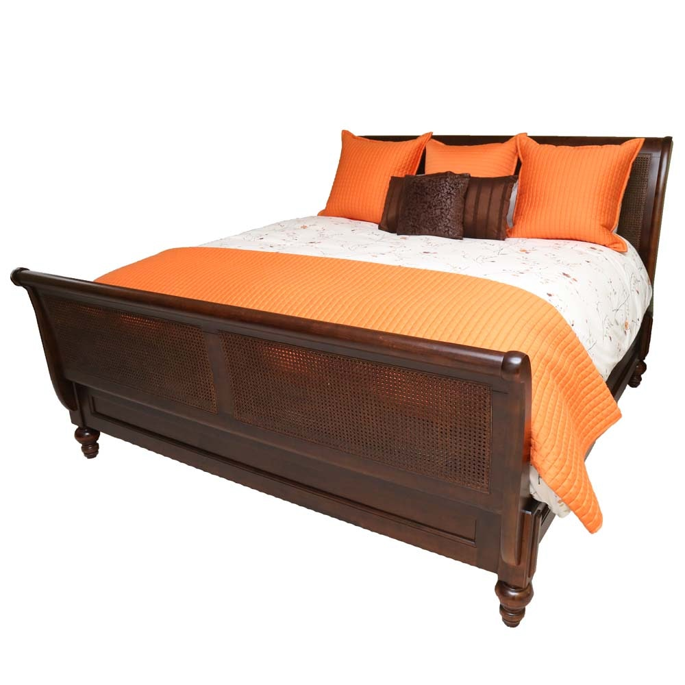 """Restoration Hardware """"Camden"""" King Size Sleigh Bed"""