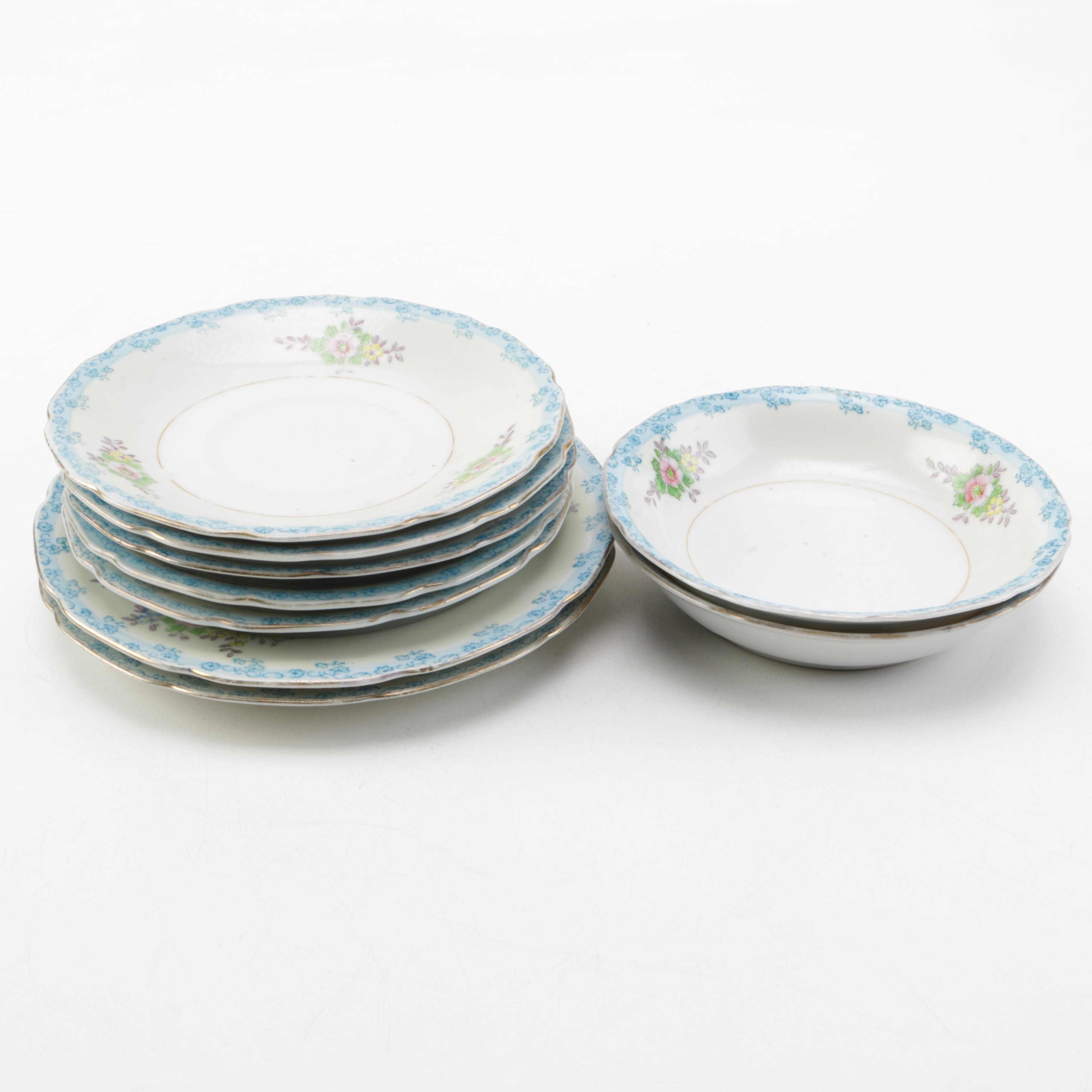 Trico Matching Hand Painted Pattern Porcelain Kitchenware
