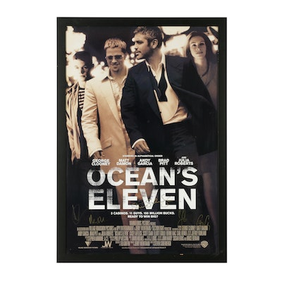 """""""Ocean's Eleven"""" Poster Autographed by Cast"""