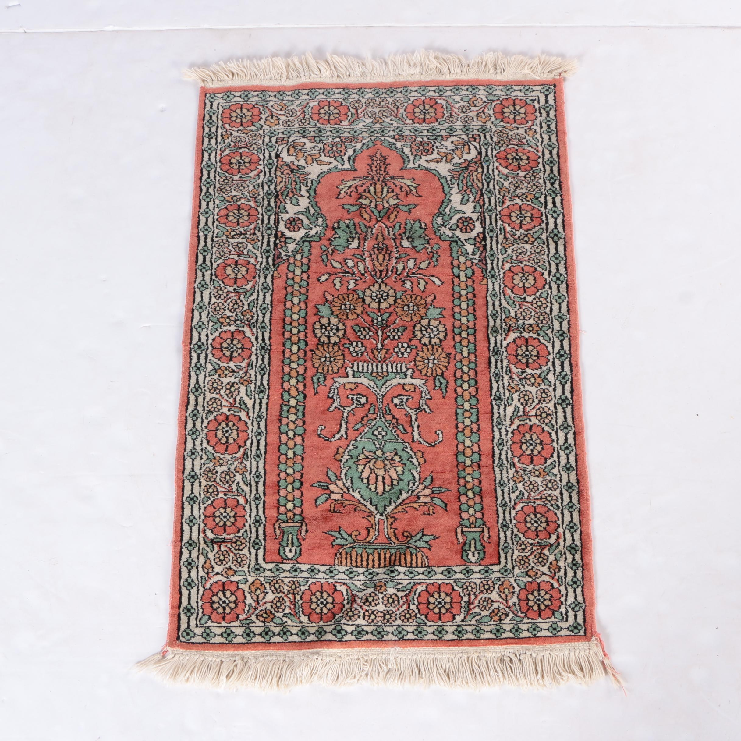 Hand-Knotted Wool Prayer Rug