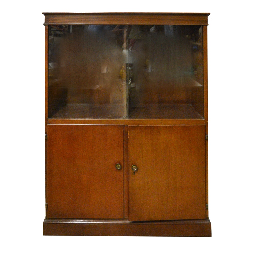 Mid Century Modern Mixed Wood Cabinet