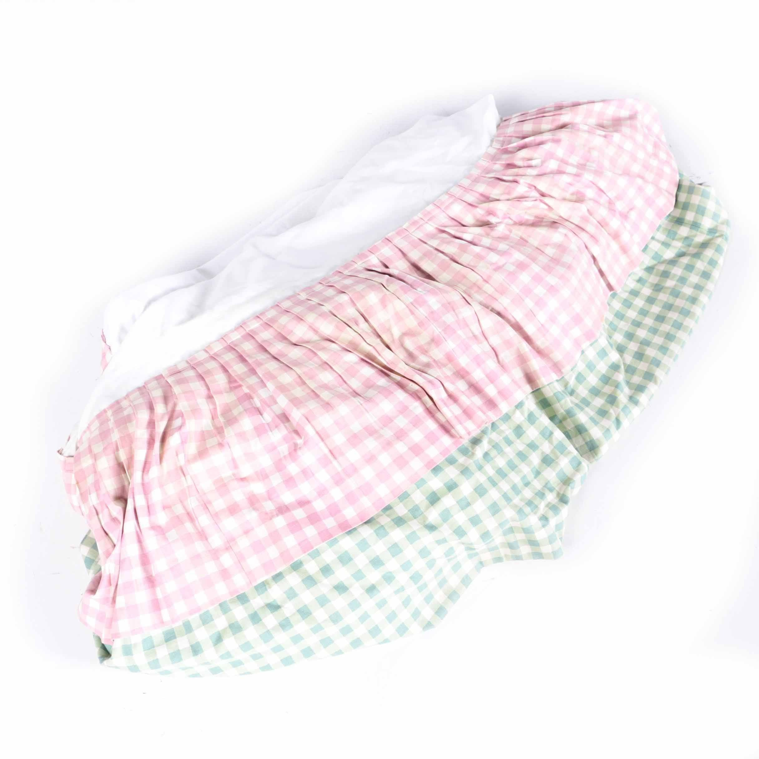 Two-Tiered Gingham Bed Skirt
