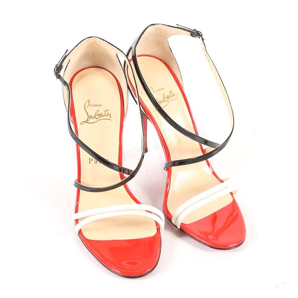 583da96de19 ... netherlands christian louboutin of paris gwynitta patent leather dress  sandals e2ec4 9f710