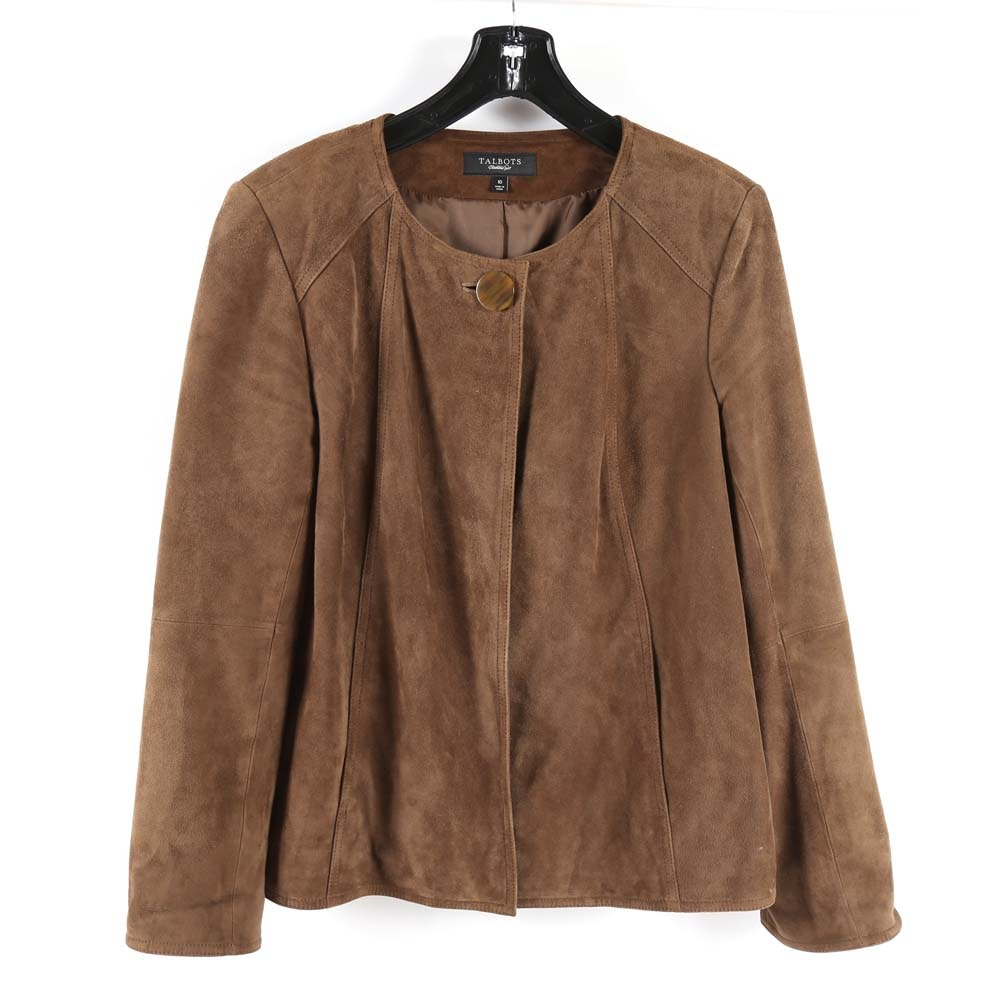 Talbot's Brown Suede Leather Jacket