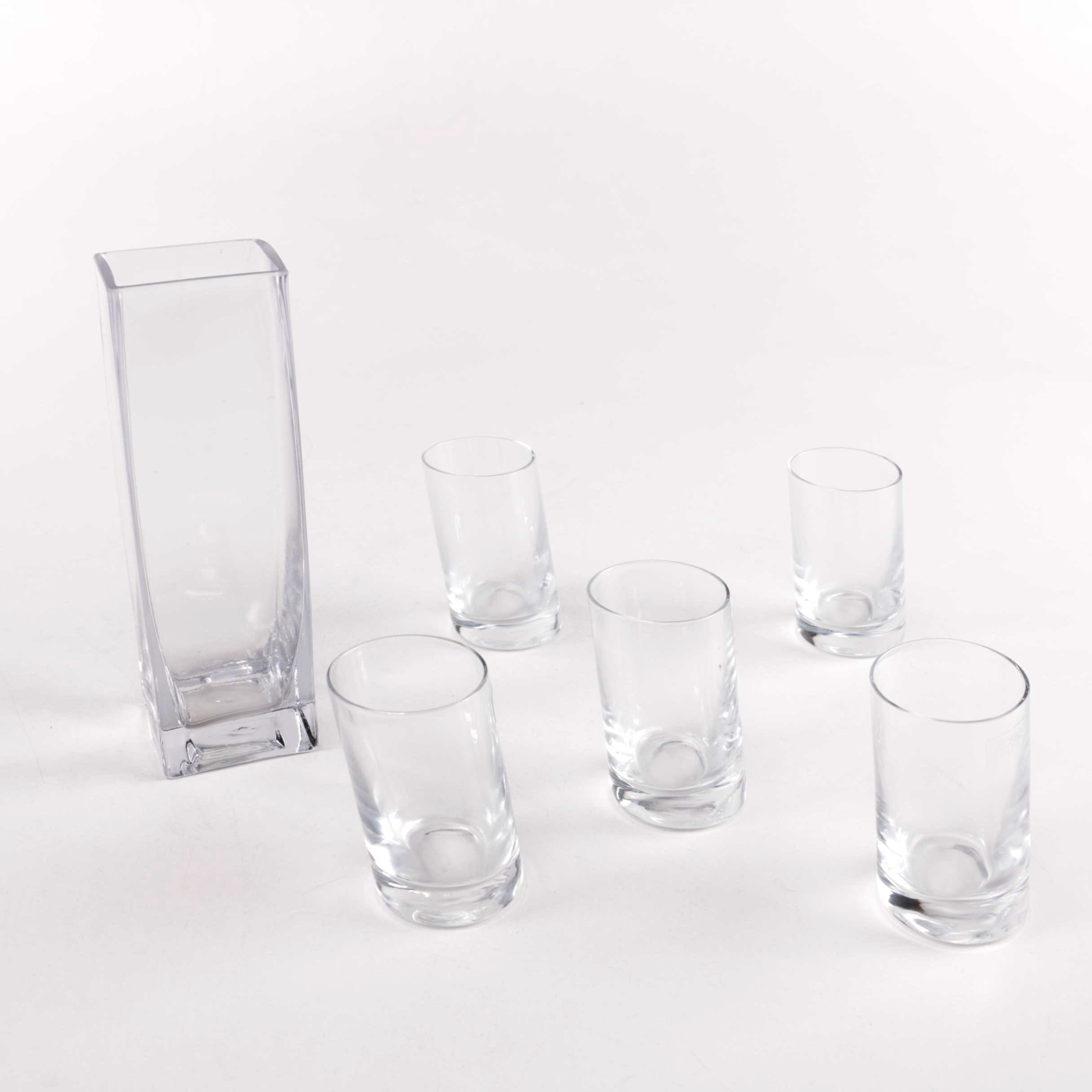Selection of Glassware Including Krosno
