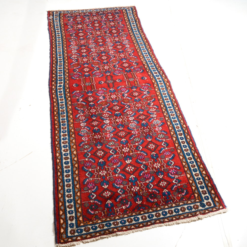 Hand-Knotted Persian Malayer Runner