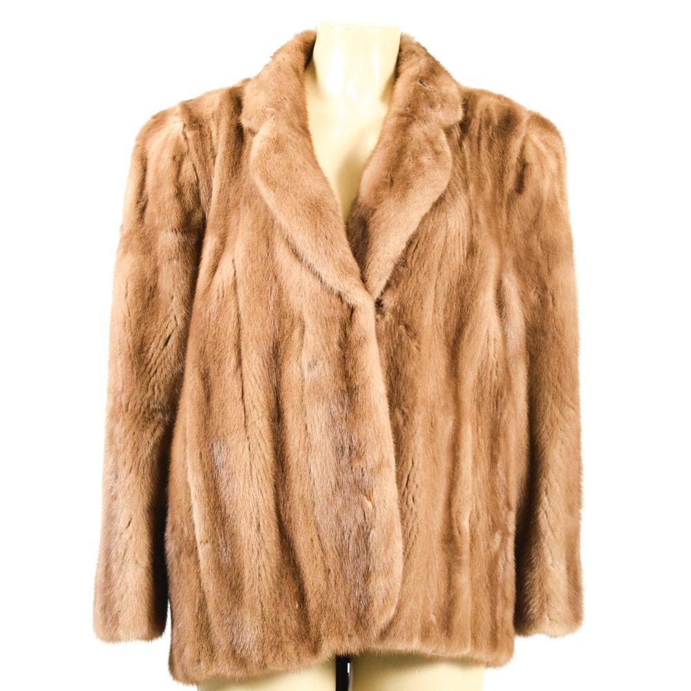 Vintage Adolfo Blonde Mink Fur Jacket