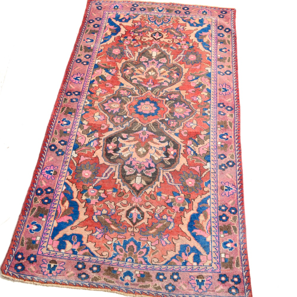 Hand-Knotted Persian Malayer Sarouk Area Rug