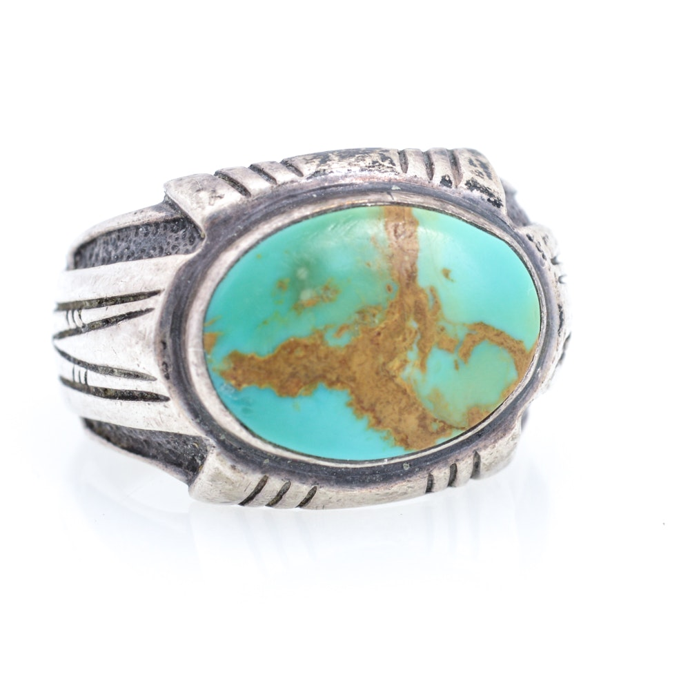 Carol Felley Southwestern Sterling Silver Turquoise Ring