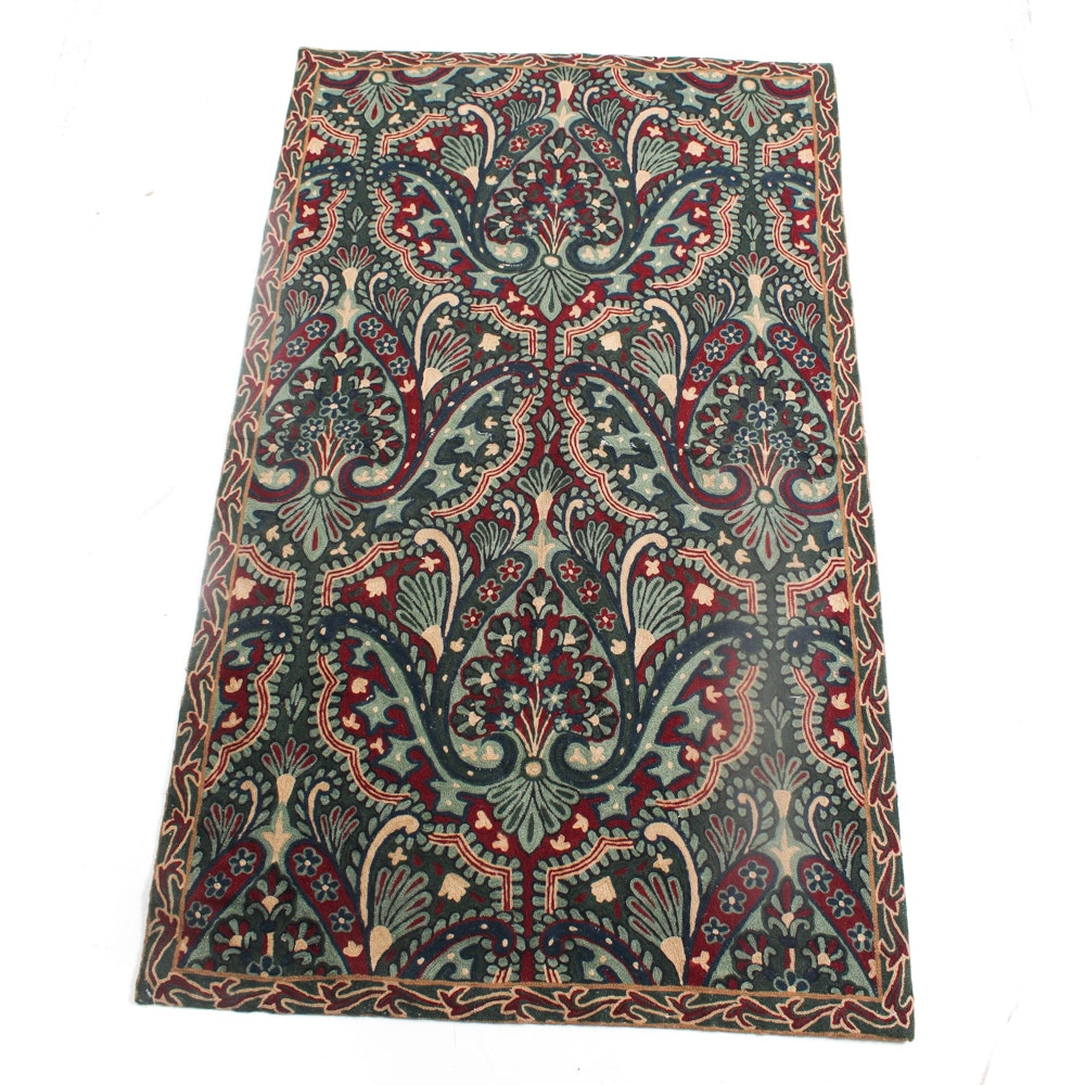 Hand-Knotted Chain Stitched Indian Rug