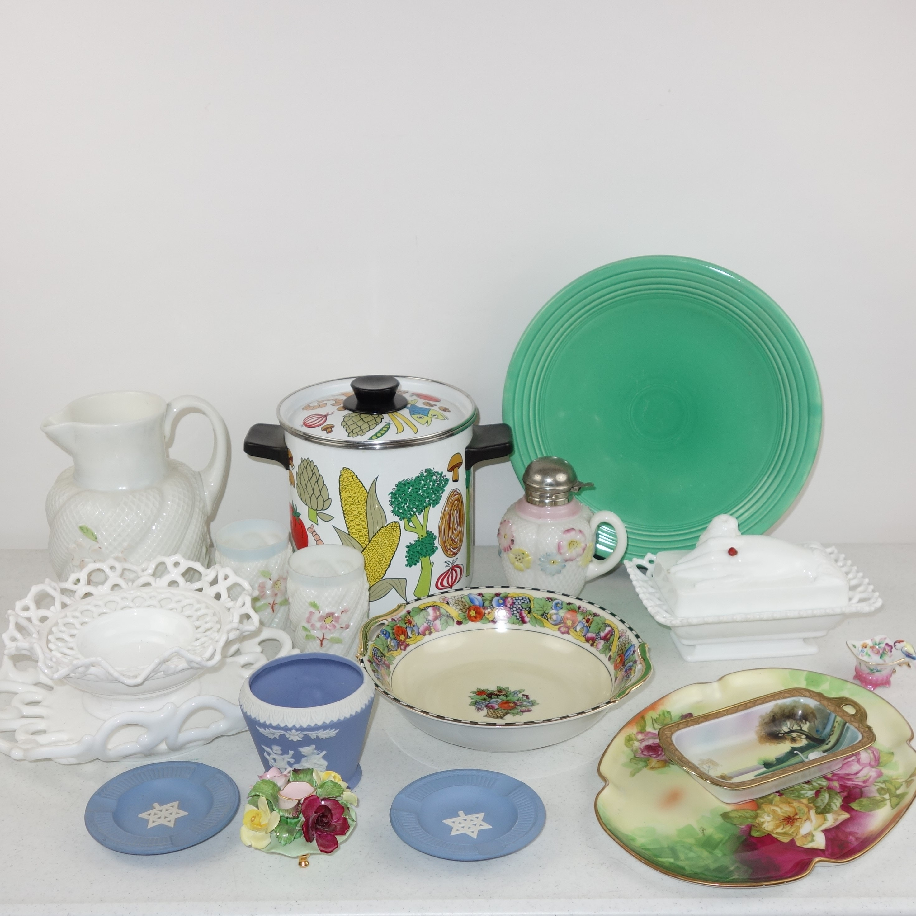 Kitchenalia and Decor including Fiestaware and Wedgwood
