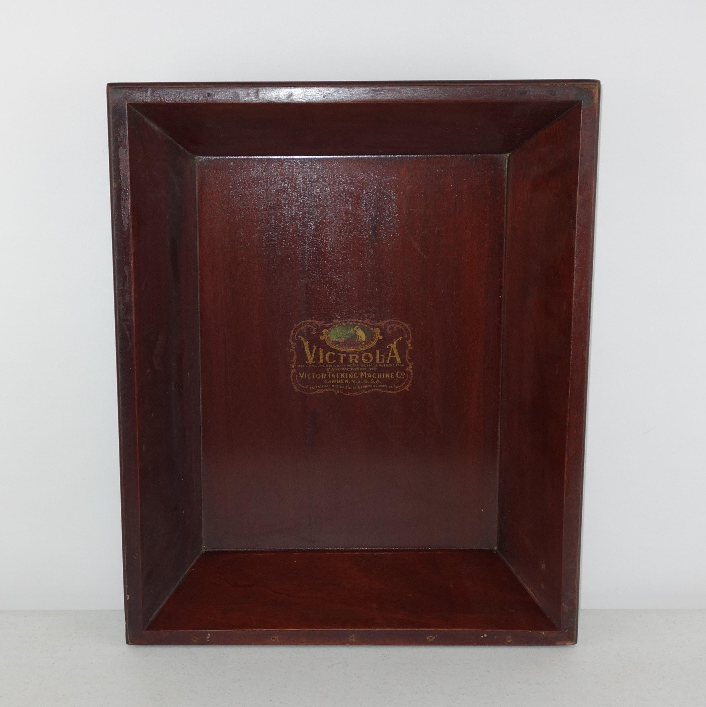 Vintage Victrola Wooden Tray
