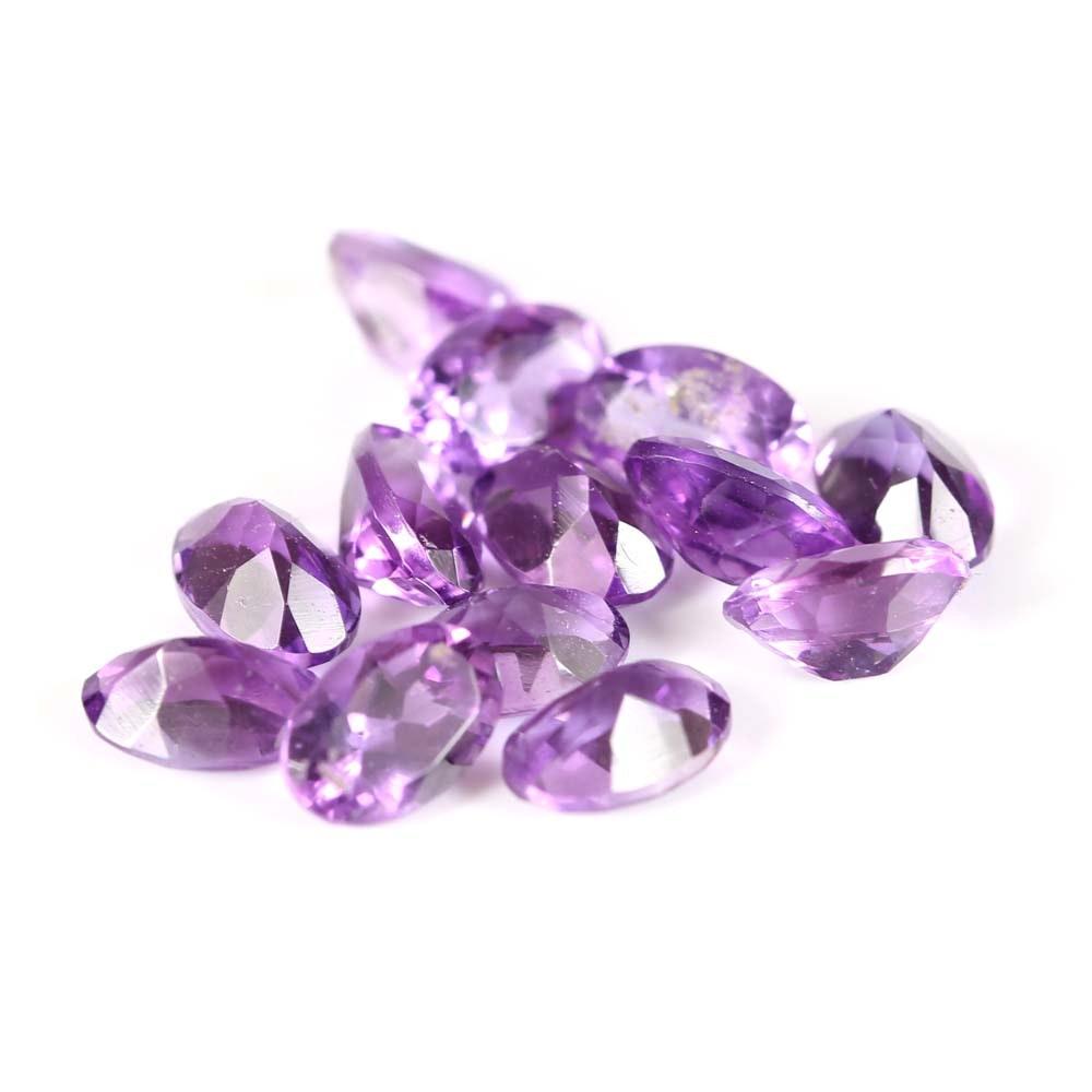 Loose 5.00 CTW Amethyst Gemstones