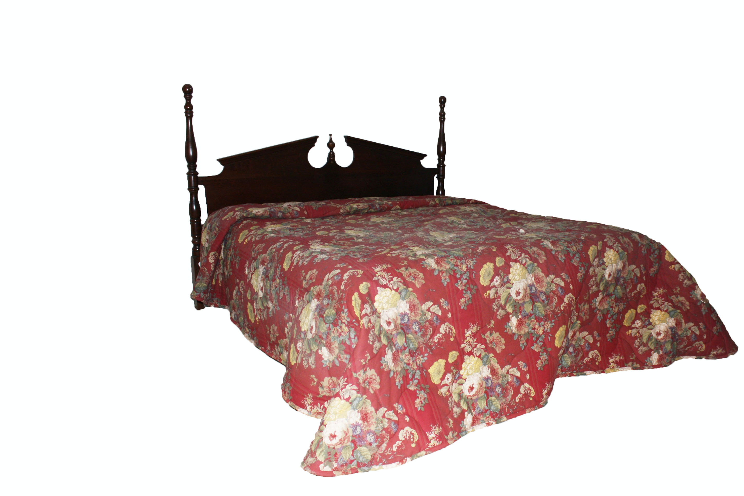 Colonial Style King-Size Headboard and Metal Frame