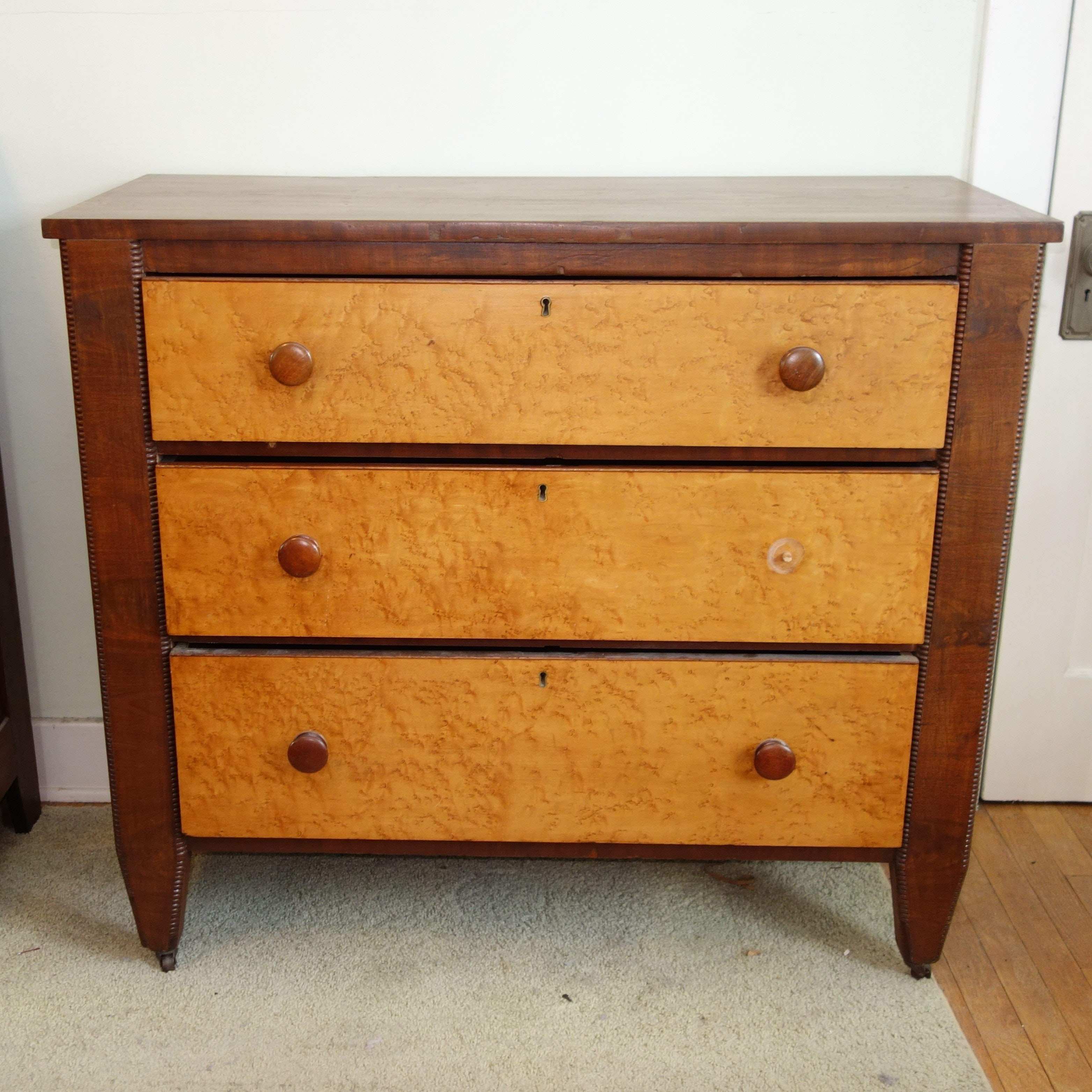 19th Century American Maple And Cherry Chest of Drawers