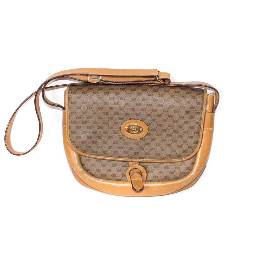 Vintage Gucci Monogram Shoulder Bag