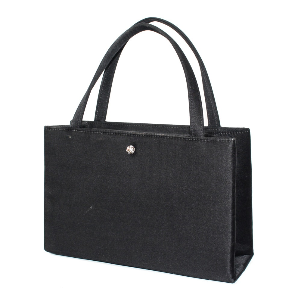 Kate Spade Black Satin Handbag