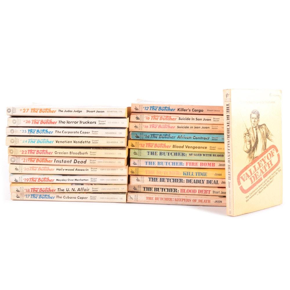 "Vintage Collection of ""The Butcher"" Novels by Stuart Jason"