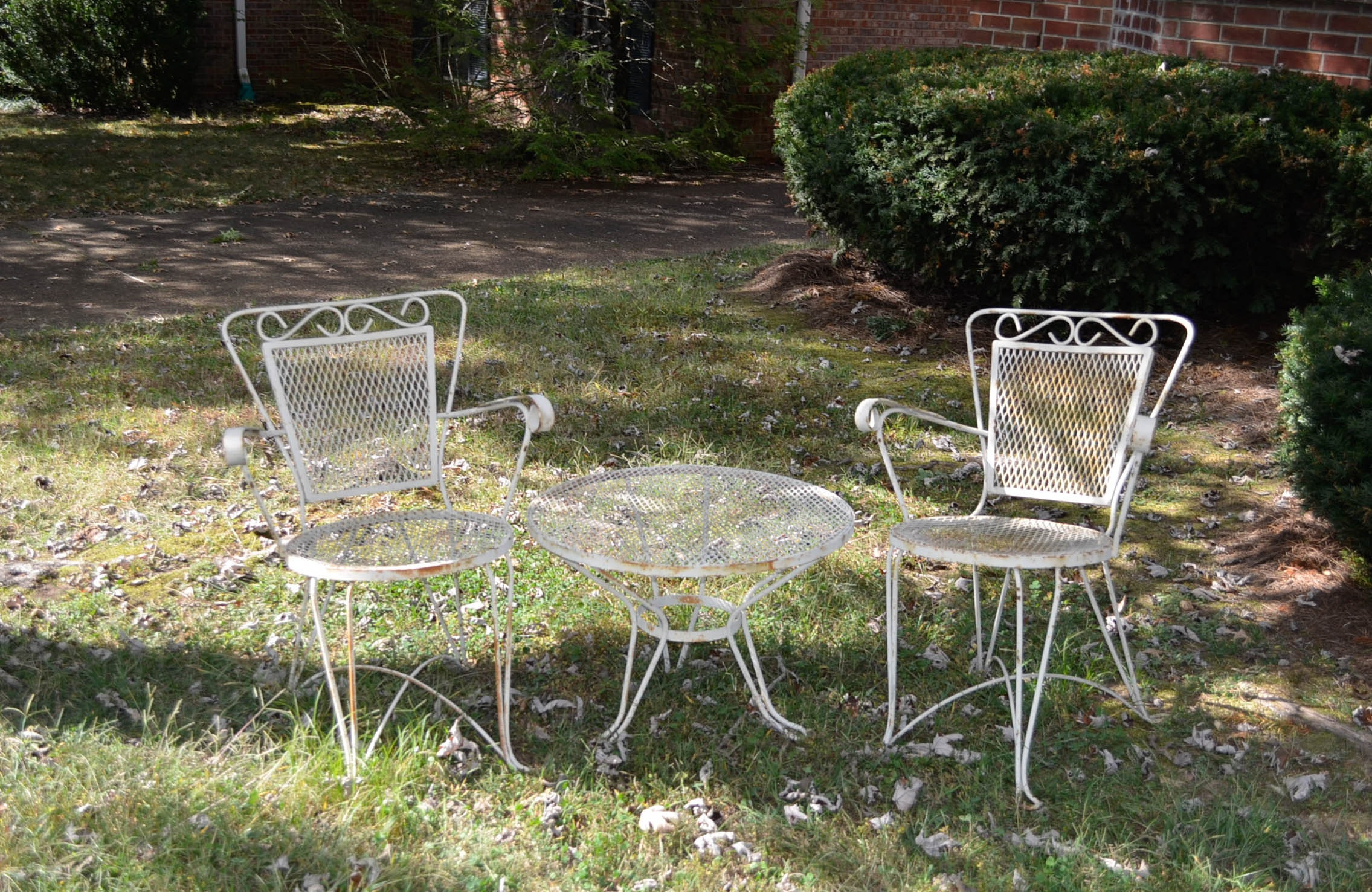 Bistro Patio Chairs and Table