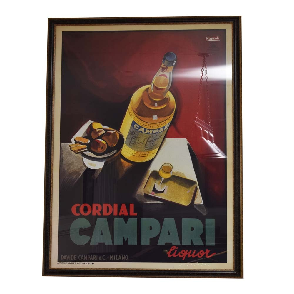After Marcello Nizzoli Advertising Poster for Campari