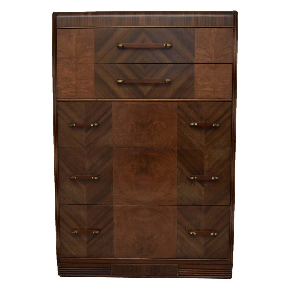 Vintage Art Deco Chest of Drawers by Jiranek