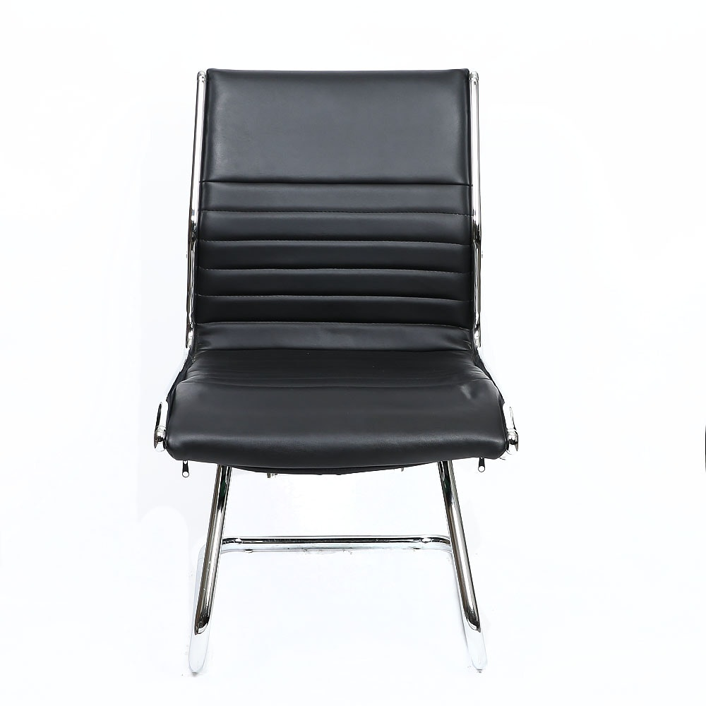 Black Leather Accent Office Chair