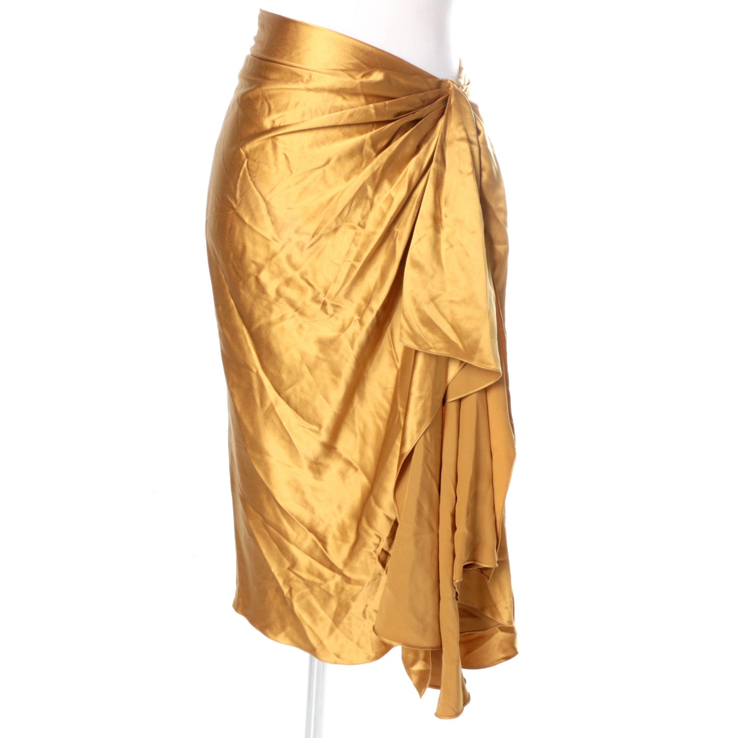 Ralph Lauren Silk Ruffled Skirt