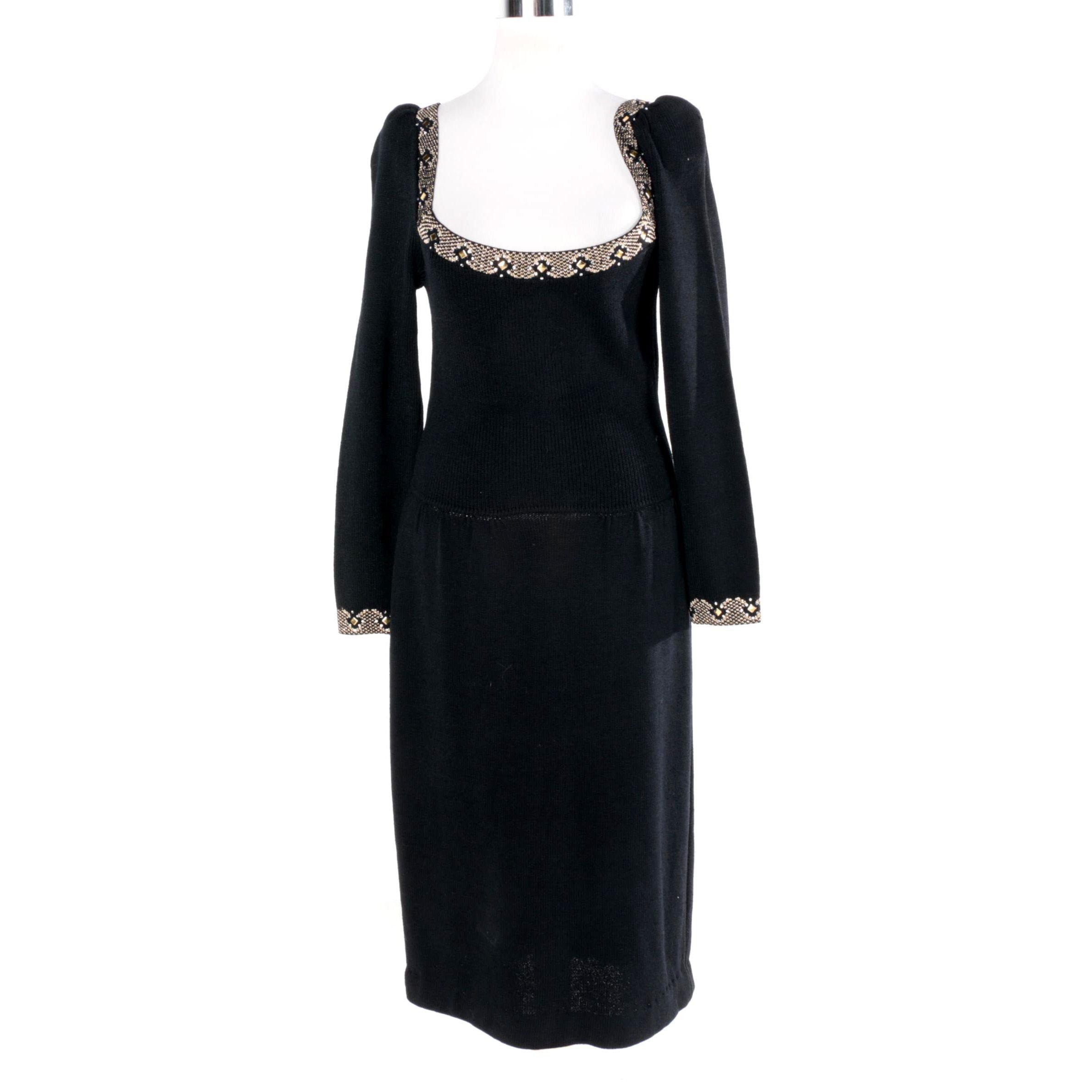 Women's St. John Evening Embellished Dress