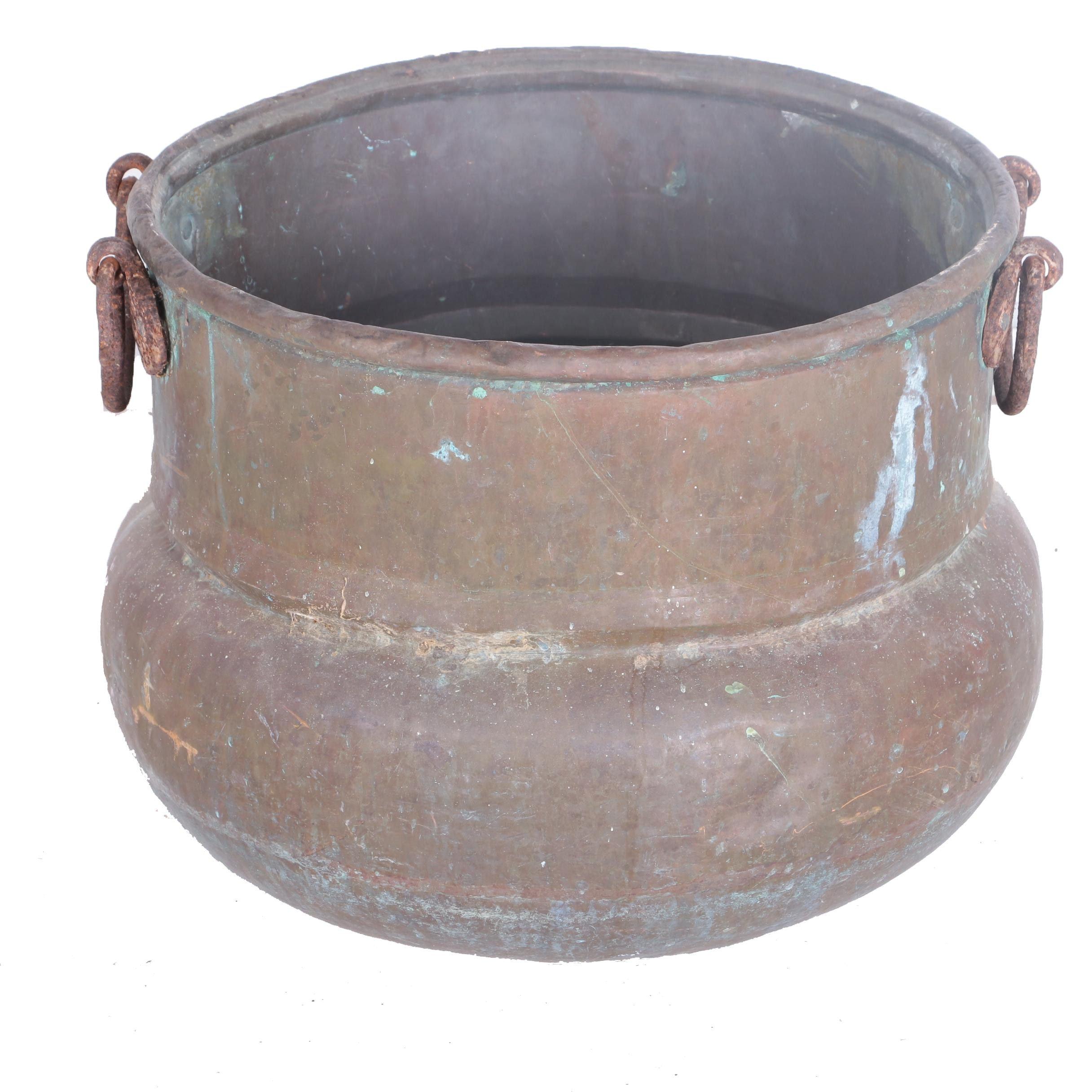 Decorative Copper Cauldron
