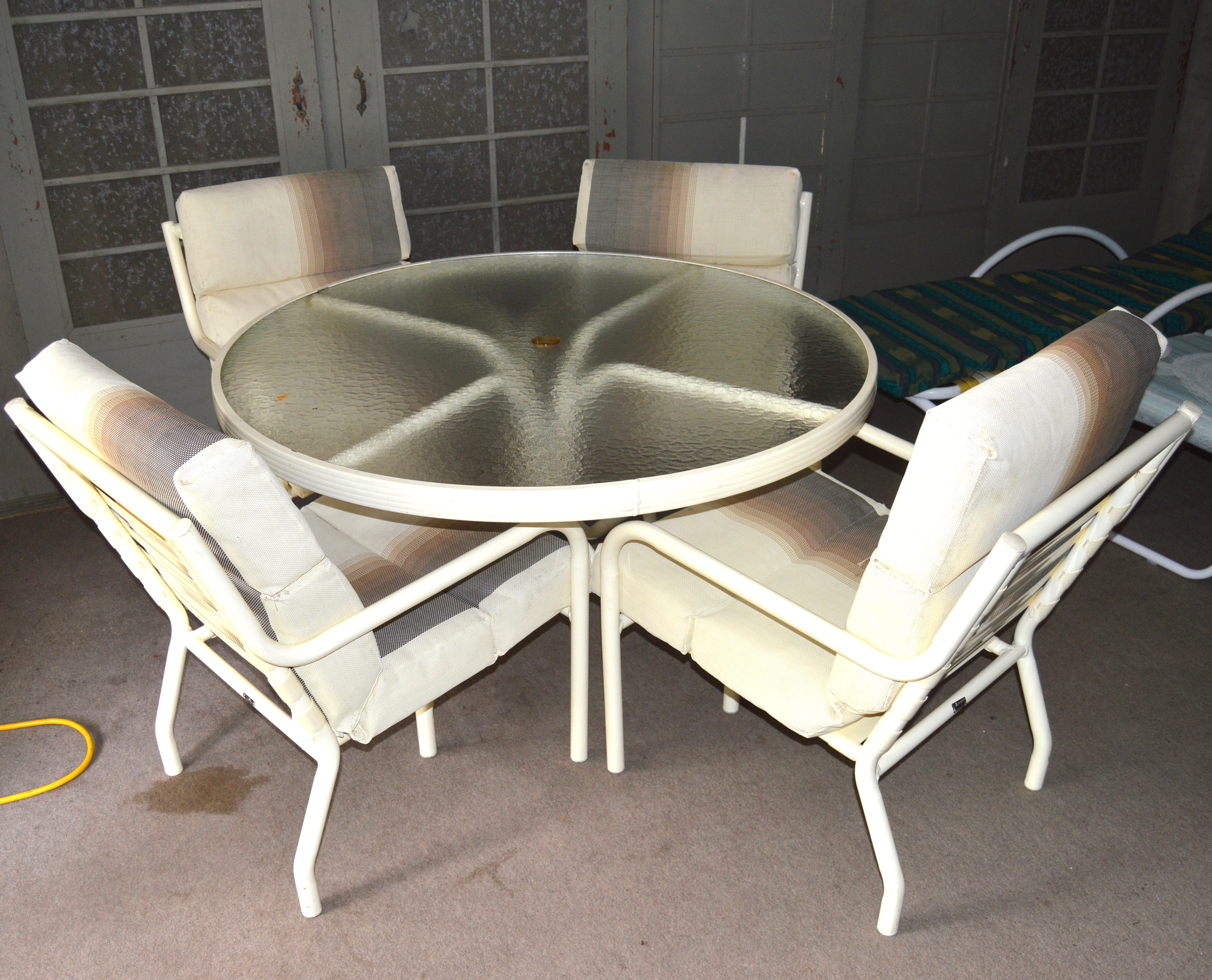 Patio Dining Table, Dining Chairs and Lounge Chairs