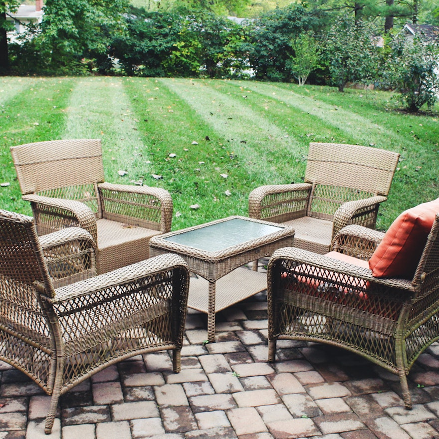 Martha Stewart Living Patio Furniture Set | EBTH on Martha Stewart 6 Piece Patio Set id=38740