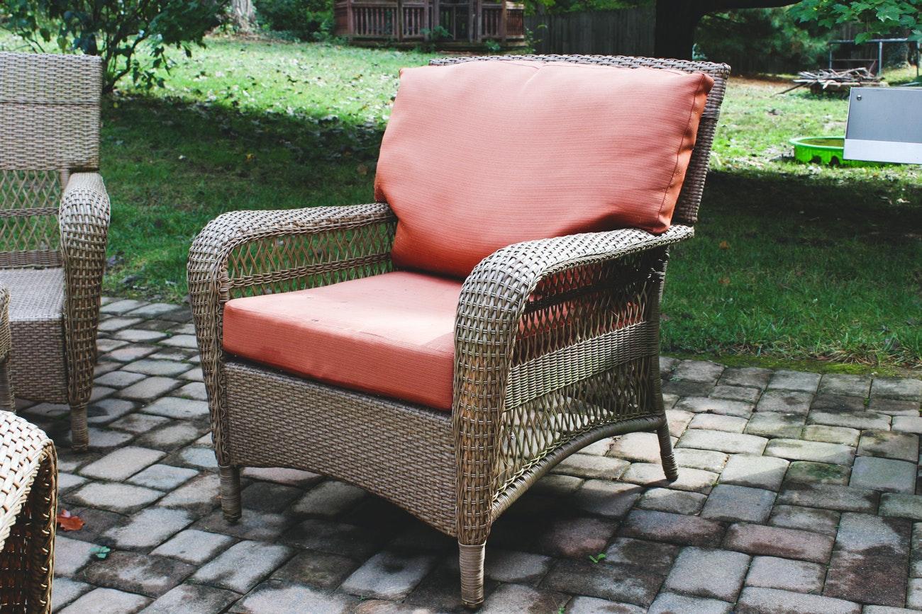 Martha Stewart Living Patio Furniture Set | EBTH on Martha Stewart Wicker id=23026