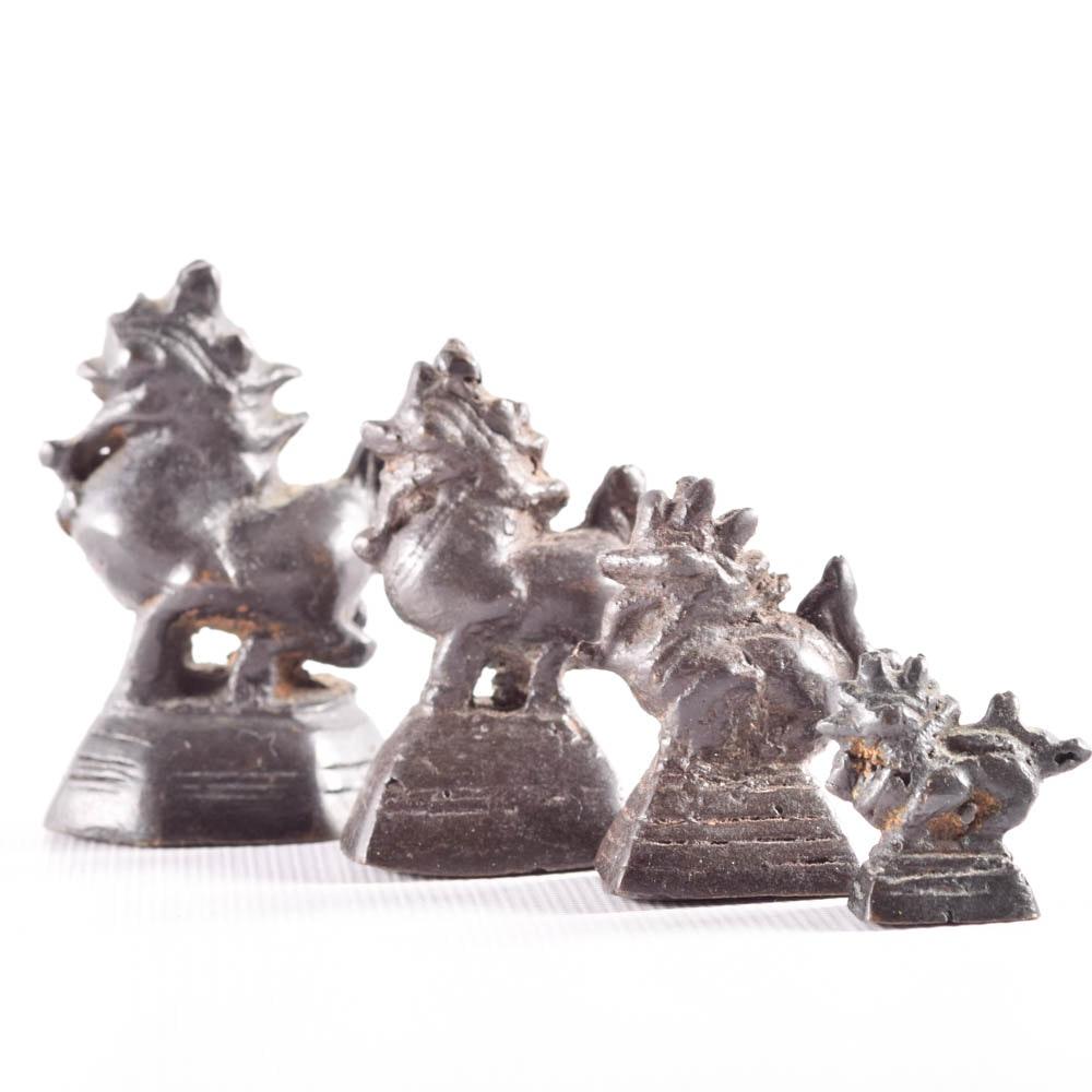 Antique Burmese Bronze Opium Weights