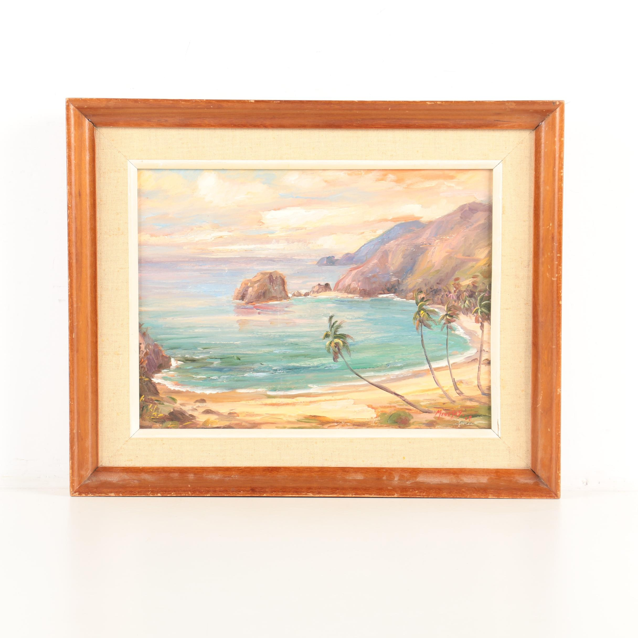 Meneses Oil Painting of a Beach