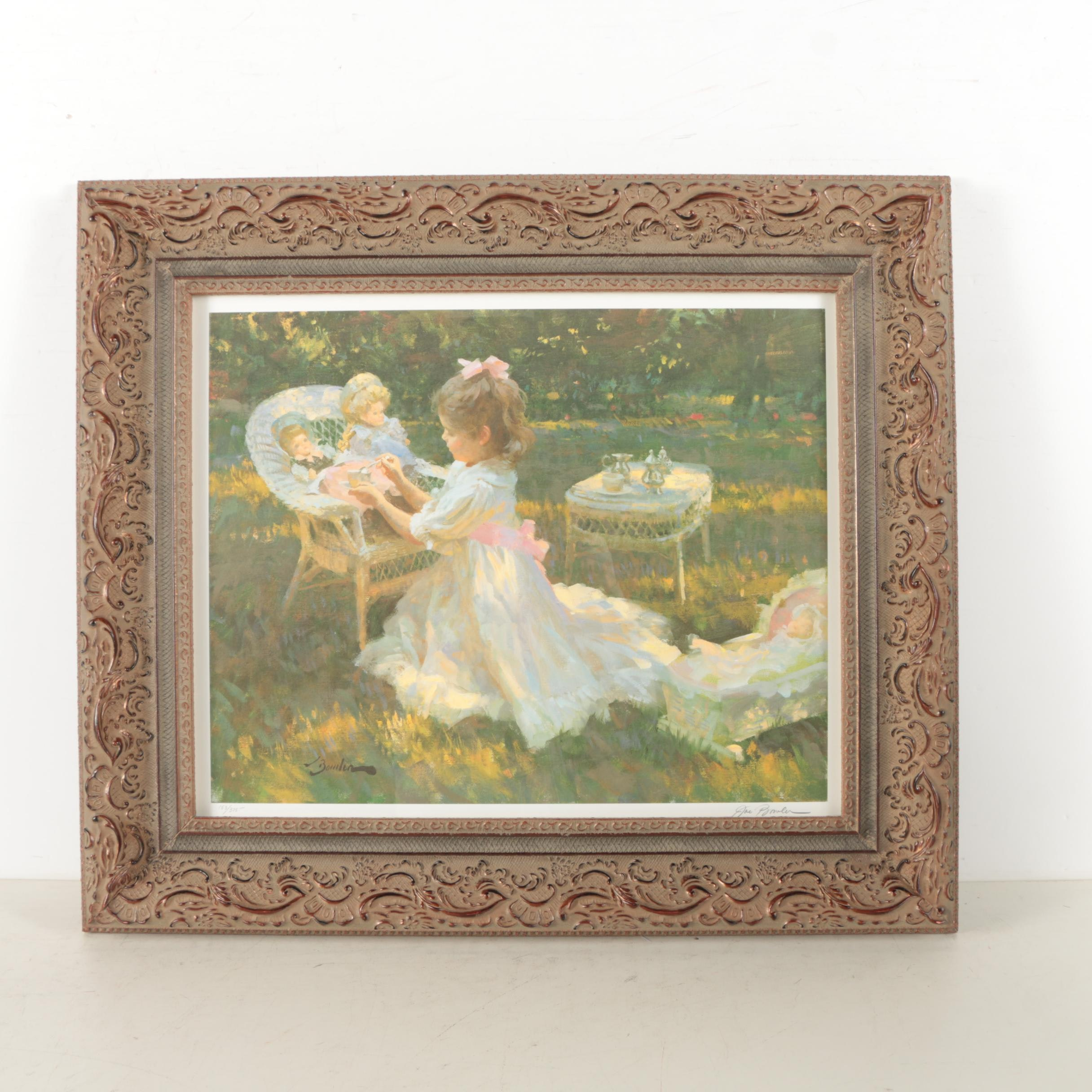 Joe Bowler Limited Edition Offset Lithograph of a Tea Party