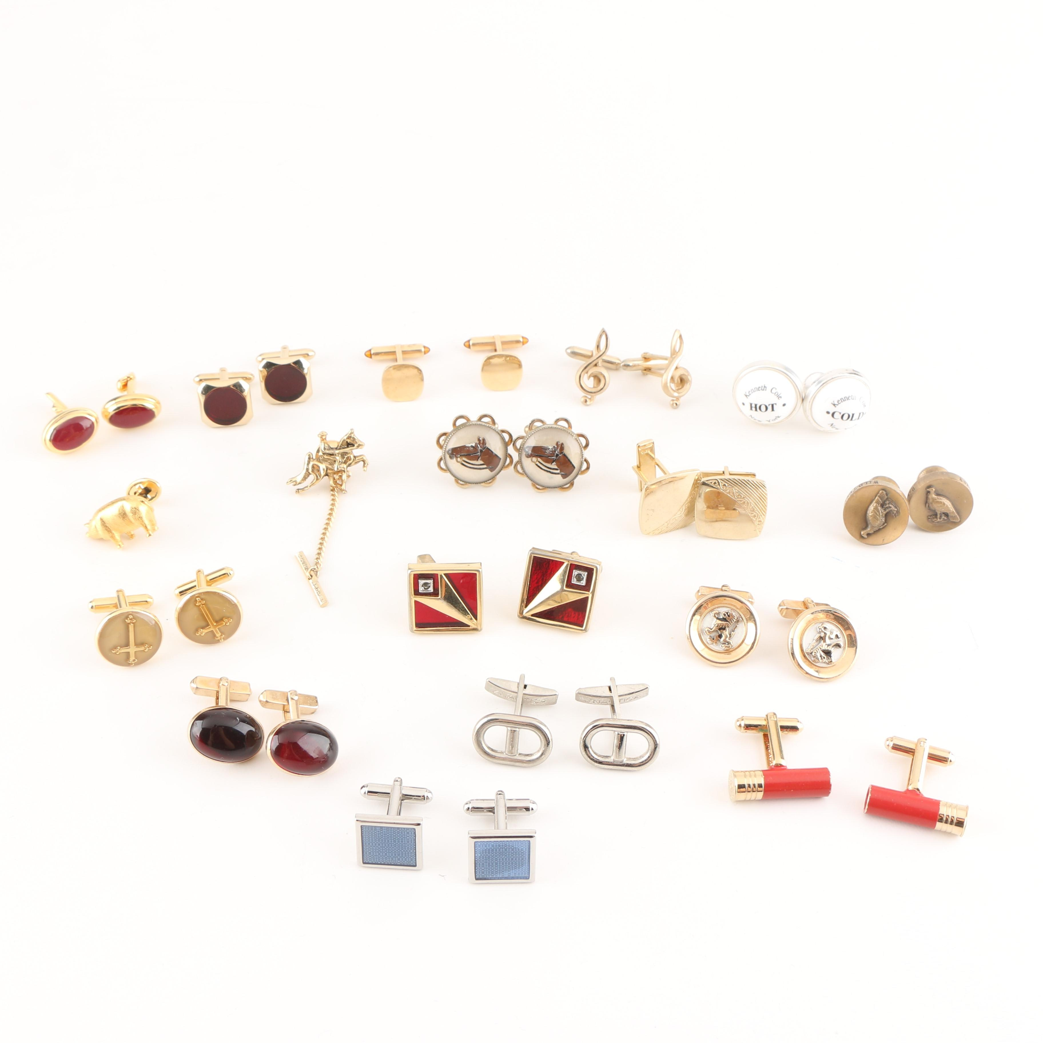 Assortment of Cufflinks Featuring Kenneth Cole